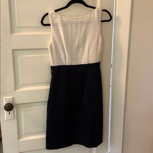 H&M Dresses - Navy and white H&M shift dress